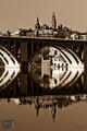 Georgetown and Key Bridge (Sepia Version)
