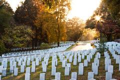 Autumn Sunset at Arlington Cemetery