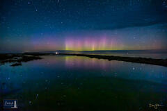 Aurora and Star Reflections