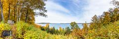 Glen Lake, Inspiration Point, Leelanau County, Michigan, autumn, fall, overlook