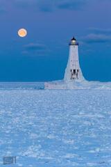 Frozen Winter Moonset
