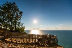 Full Moon over the Lake Michigan Overlook