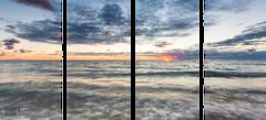 Lake Michigan Sunset - Quadtych