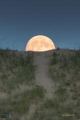 Moon Rising over Sleeping Bear Point