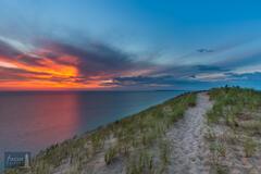 Lake Michigan, Lake Michigan Overlook, Michigan, NPS, National Park Service, Pierce Stocking Scenic Drive, Sleeping Bear Dune...