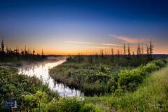 Misty Dawn on the Platte River