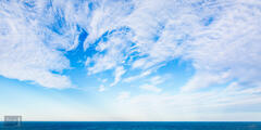 Sky Canvas in Blue and White