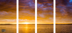 Skyfire Sunrise over Platte Lake - Quadtych