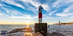 Sunset Lighthouse Two-fer