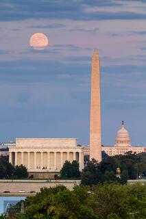 Harvest Moonrise over DC