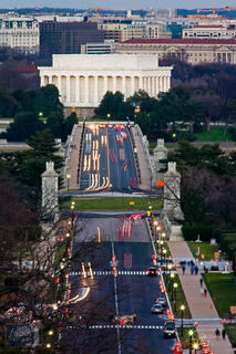 View of Memorial Bridge from Arlington Cemetery