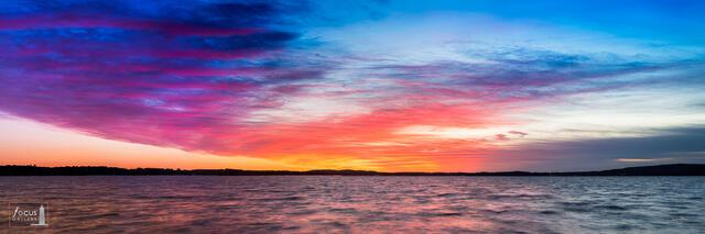 Colorful sunrise over Bear Lake, Michigan.