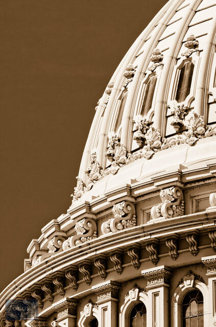 Capitol Dome Detail (Sepia)