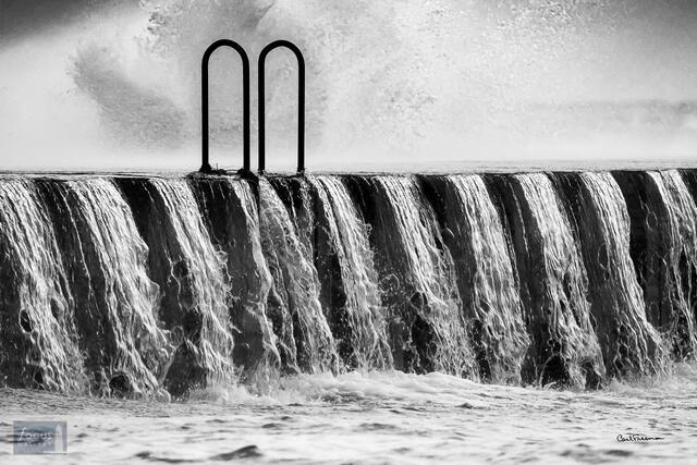 Elberta Pier Waterfall