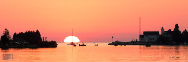 Frankfort Harbor Sunset