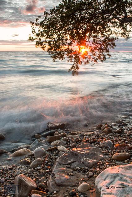 Shoreline Sunset Starburst