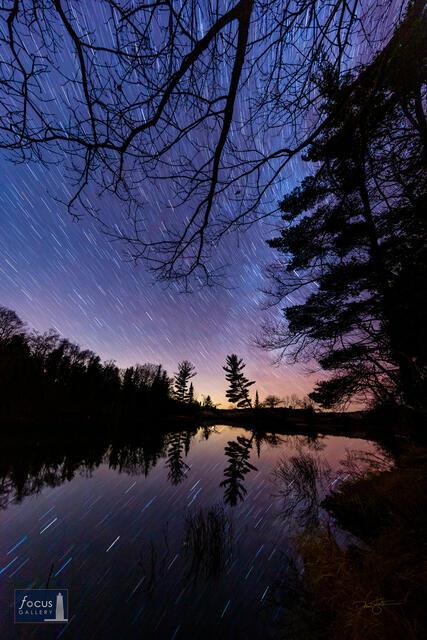 Star Trails long the Lower Platte River