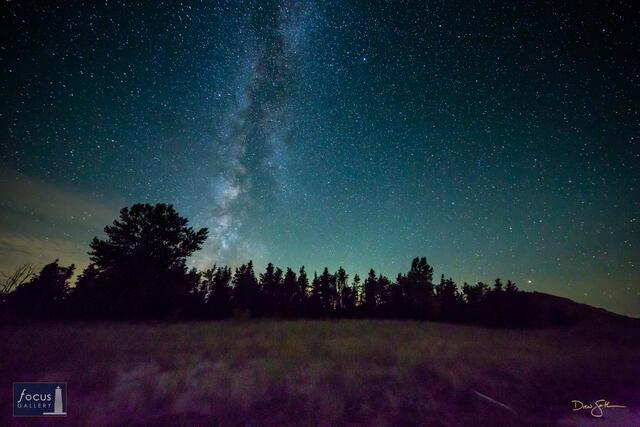 Stars and Milky Way over Sleeping Bear Point