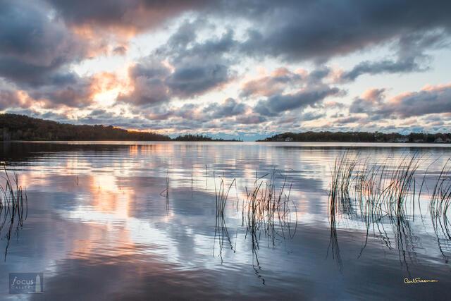 Sunset Cloud Reflection - Arcadia Lake