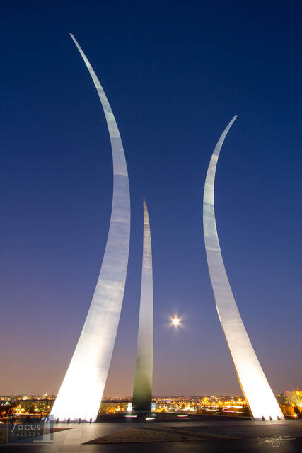 United States Air Force Memorial at Night