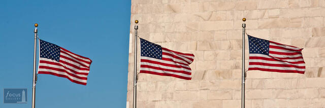 American Flags at the Washington Monument