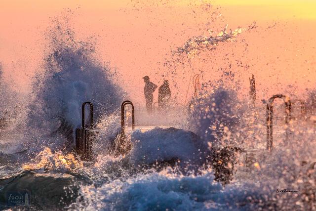 Wavy Pier Fishermen