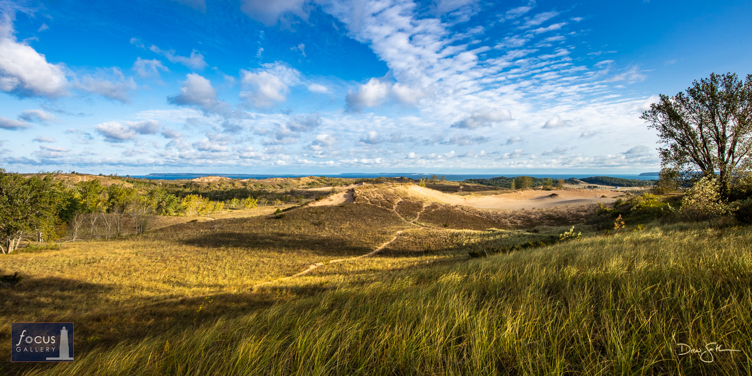 Photo © Drew Smith The Cottonwood Trail is one of many beautiful trails through Sleeping Bear Dune, with sleeping views out...
