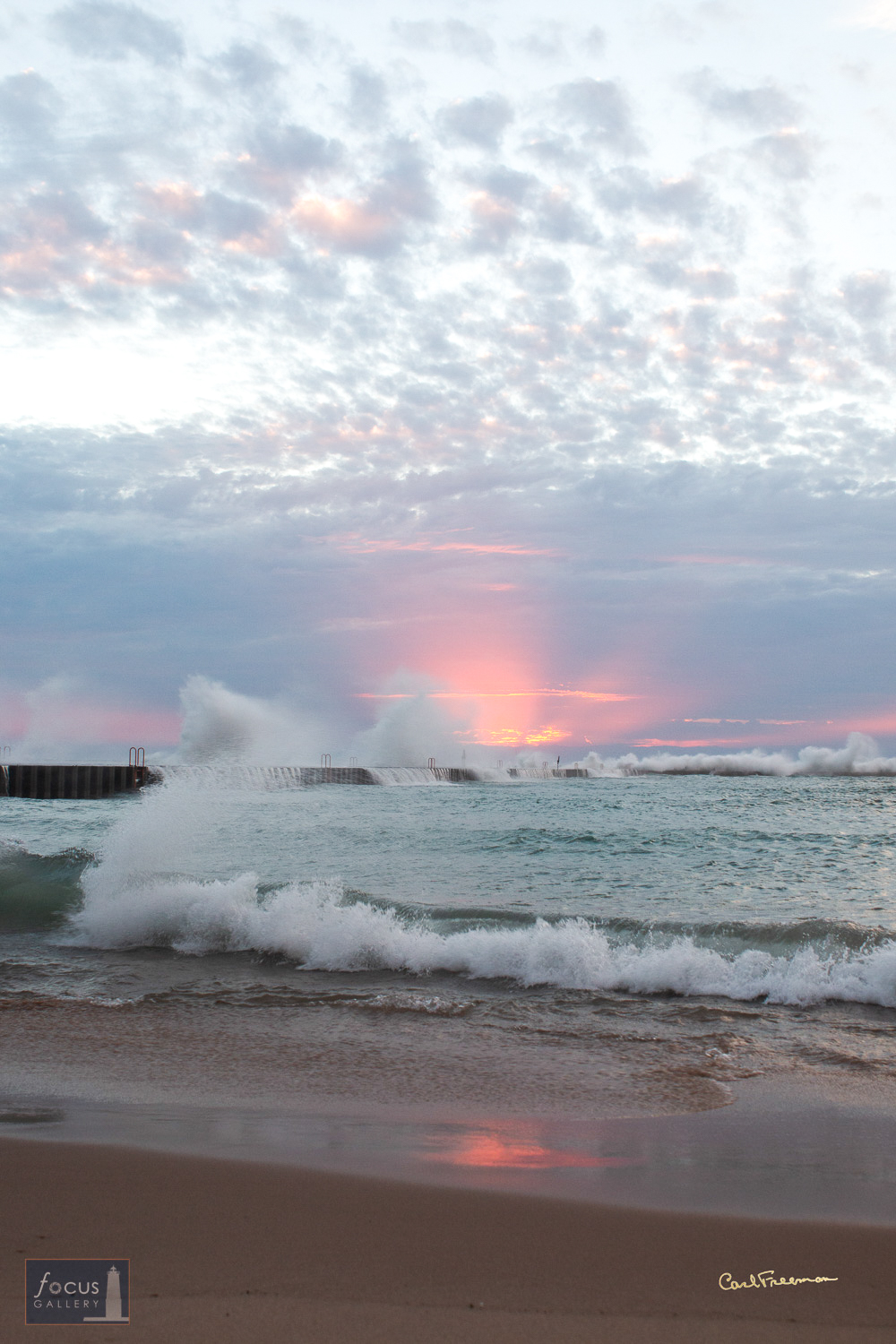 Photo © Carl Freeman Taken from the beach between the Elberta Pier and the south snub pier.