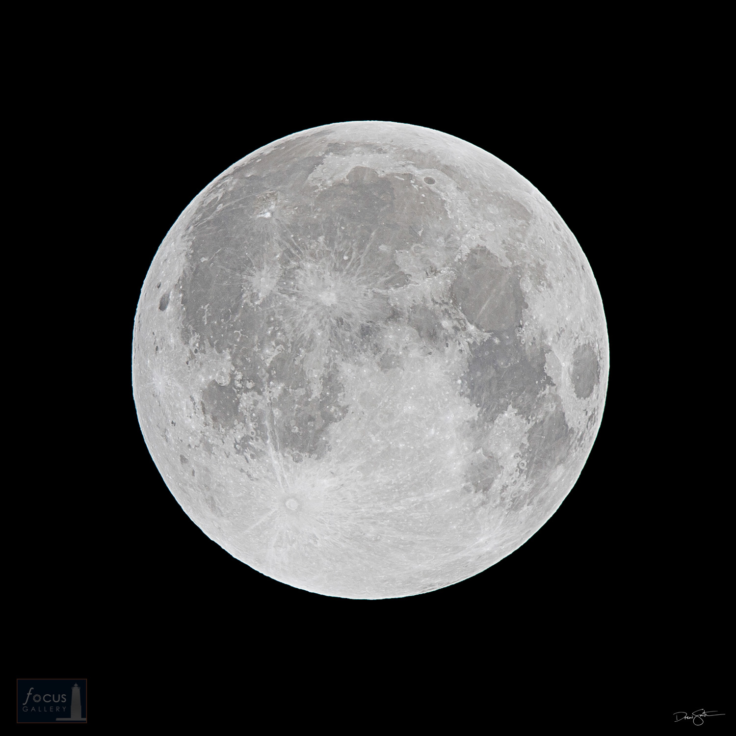 The full moon in detail.