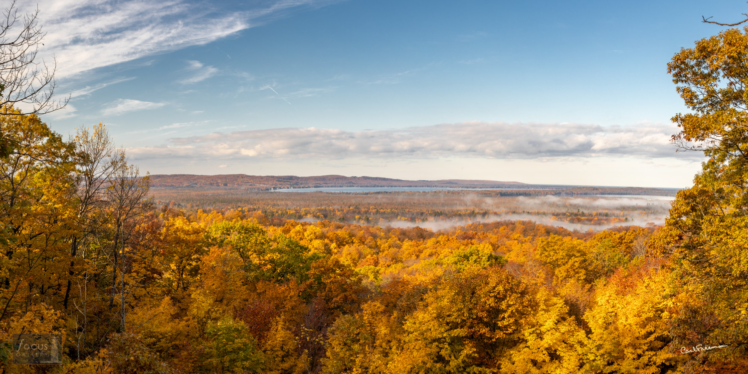 Photo © Carl Freeman Overlooking Big and Little Platte Lakes on a gorgeous fall morning.