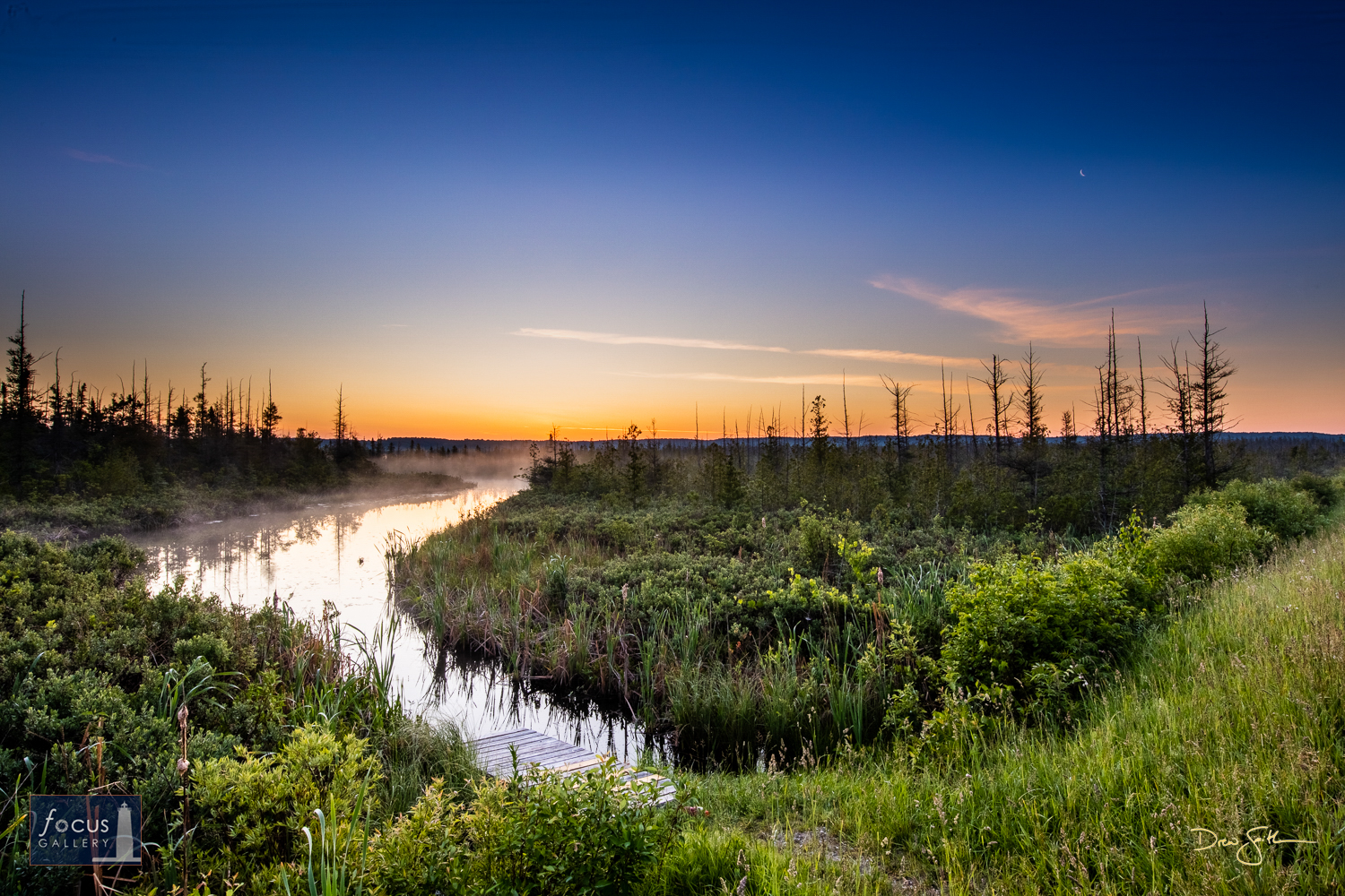 Photo © Drew Smith Mist rises from the Platte River along Deadstream Road as the sky fills with daylight.