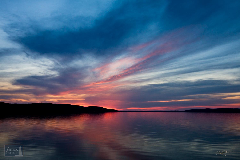 Sunset over Crystal Lake, Michigan.