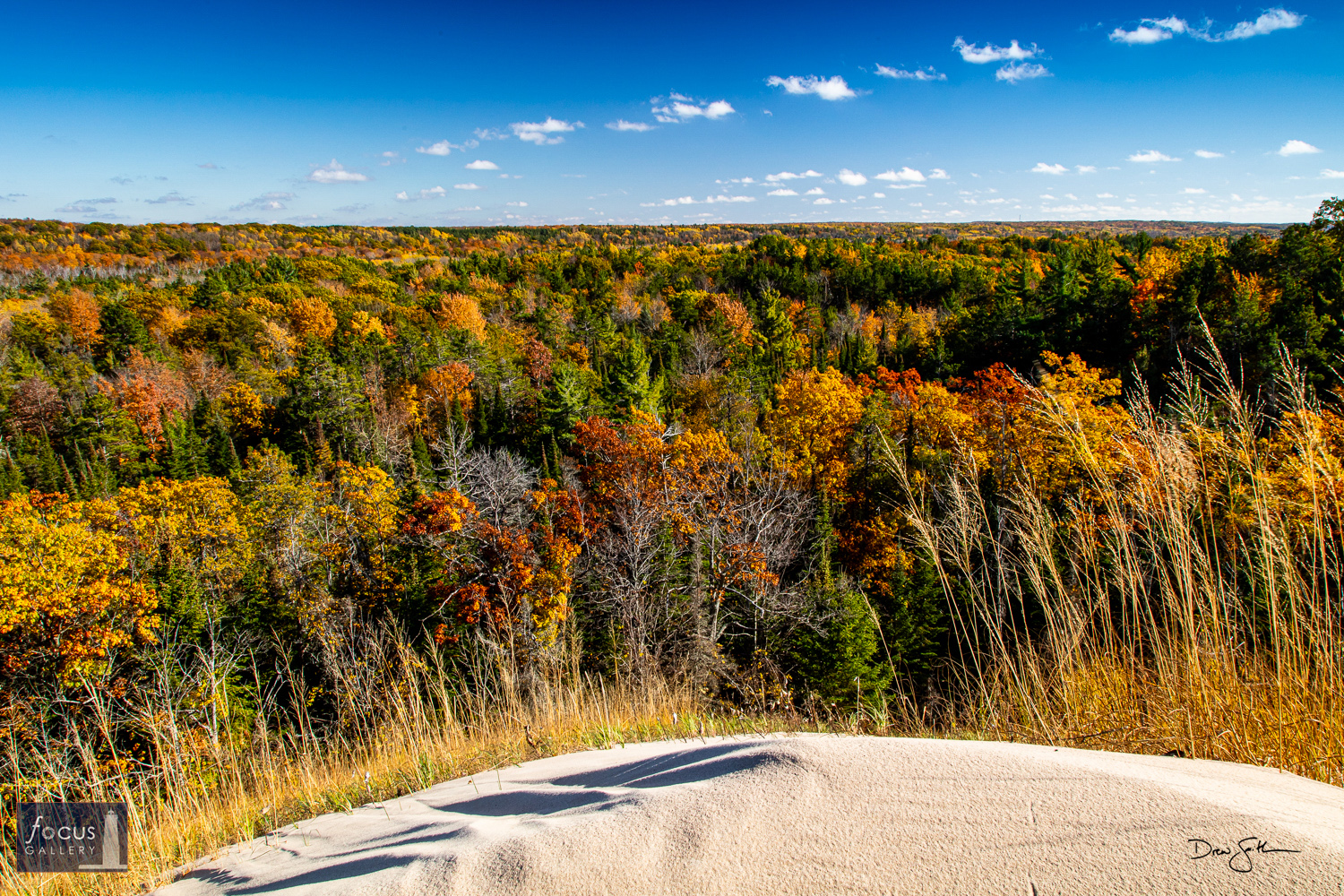Photo © Drew Smith Autumn view from atop a high bluff near Otter Creek looking inland.
