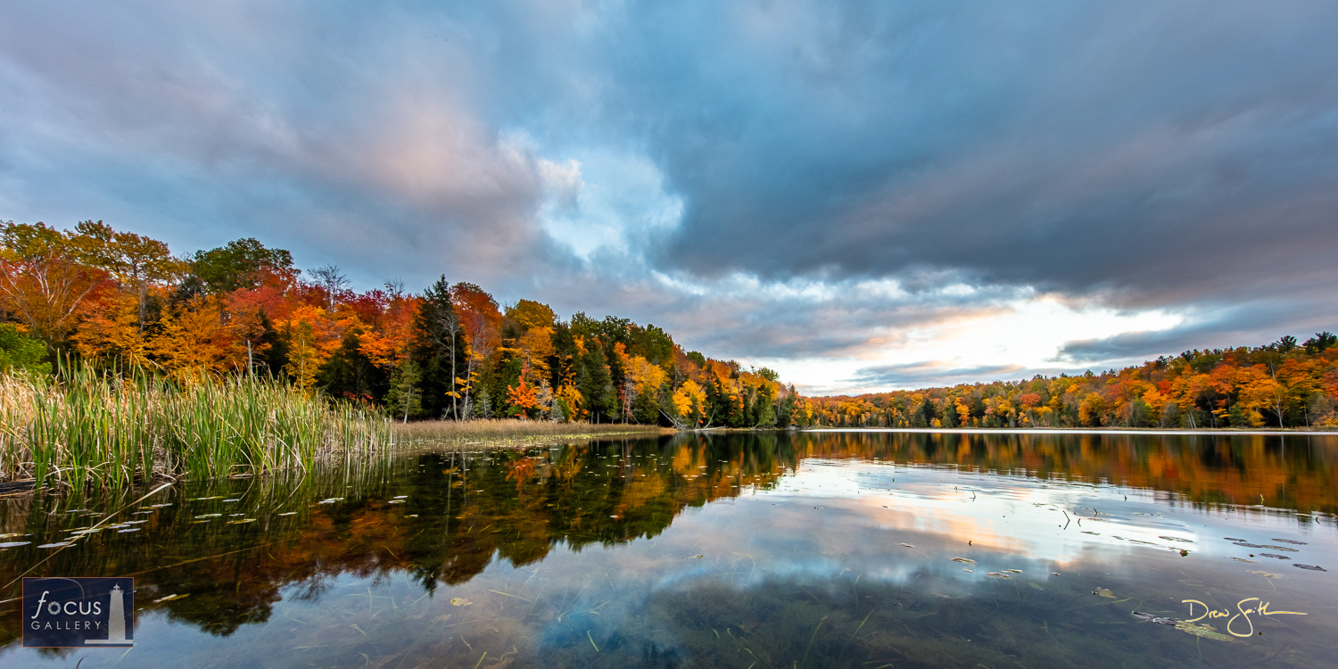 Photo © Drew Smith A soft and tranquil palette of autumn mixed with sunset at Lower Woodcock Lake.   This image was taken on...